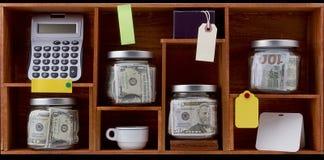 Accumulazione dei soldi propriamente detta Fotografia Stock