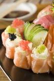 Accumulazione dei sushi e del sashimi Fotografie Stock