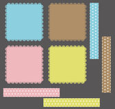 Accumulazione dei telai del merletto di disegno Immagine Stock Libera da Diritti