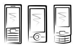 Accumulazione dei telefoni mobili Fotografia Stock