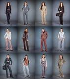 Accumulazione dei vestiti del pantalone delle donne Immagini Stock Libere da Diritti