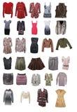 Accumulazione dei vestiti della donna Immagine Stock Libera da Diritti