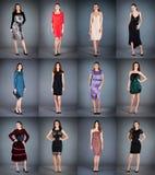 Accumulazione dei vestiti delle donne Fotografie Stock