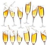 Accumulazione dei vetri del champagne Fotografia Stock Libera da Diritti