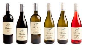 Accumulazione dei vini sudafricani Fotografia Stock Libera da Diritti
