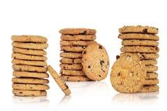 Accumulazione del biscotto di pepita di cioccolato Fotografia Stock Libera da Diritti