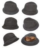 Accumulazione del cappello del tweed Fotografie Stock