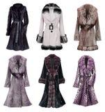 Accumulazione del cappotto di pelliccia Fotografia Stock Libera da Diritti