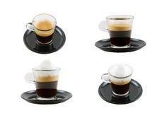 Accumulazione del Cappuccino e del caffè espresso Fotografia Stock Libera da Diritti