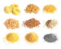 Accumulazione del cereale, dei maccheroni e dei semi Fotografia Stock Libera da Diritti