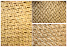 Accumulazione del cestino di bambù di struttura per priorità bassa Fotografie Stock