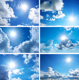 Accumulazione del cielo Fotografia Stock