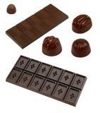 Accumulazione del cioccolato fotografie stock