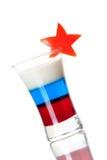 Accumulazione del cocktail del colpo: Bandierina russa Immagine Stock