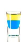 Accumulazione del cocktail del colpo: Tequila blu Immagine Stock