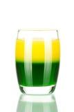Accumulazione del cocktail del colpo: Verde ed oro Immagini Stock Libere da Diritti