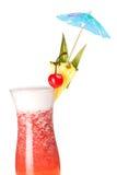 Accumulazione del cocktail: Fragola Pina Colada Fotografia Stock Libera da Diritti