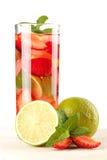 Accumulazione del cocktail: Mojito della fragola Fotografia Stock