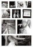 Accumulazione del collage di cerimonia nuziale in in bianco e nero Fotografia Stock Libera da Diritti