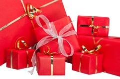 Accumulazione del contenitore di regalo Immagini Stock Libere da Diritti