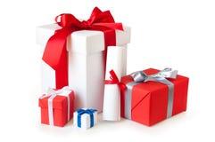 Accumulazione del contenitore di regalo Fotografie Stock