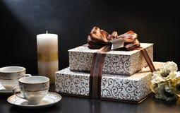 Accumulazione del contenitore di regalo Fotografia Stock