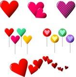 Accumulazione del cuore Fotografie Stock