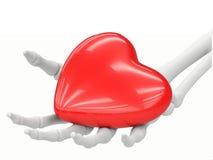 Accumulazione del cuore - spinta qui Fotografia Stock