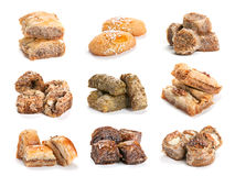 Accumulazione del dessert del Baklava Immagine Stock Libera da Diritti