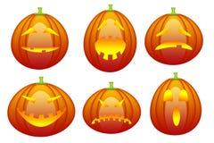 Accumulazione del emoticon di Halloween illustrazione di stock