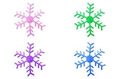 Accumulazione del fiocco di neve Fotografie Stock