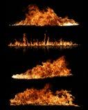 Accumulazione del fuoco fotografie stock