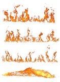Accumulazione del fuoco Fotografia Stock Libera da Diritti