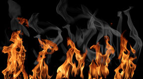 Accumulazione del fuoco Fotografia Stock