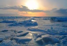 Accumulazione del ghiaccio Fotografia Stock