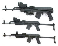 Accumulazione del Kalashnikov - grandi maschere di formato Immagine Stock Libera da Diritti