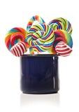 Accumulazione del lollipop della canna di caramella dello zucchero Immagine Stock
