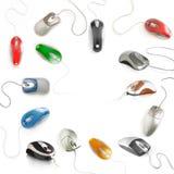 Accumulazione del mouse del calcolatore Fotografia Stock Libera da Diritti