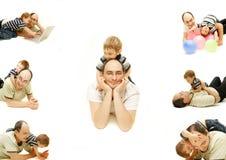 Accumulazione del padre e del figlio di Hapy Fotografia Stock