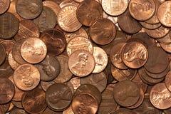 Accumulazione del penny Fotografia Stock