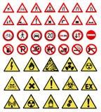 Accumulazione del segno del lavoro e di sicurezza Fotografia Stock Libera da Diritti