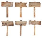 Accumulazione del segno e dell'insegna di legno Fotografie Stock Libere da Diritti