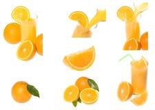 Accumulazione del succo di arancia Immagini Stock Libere da Diritti