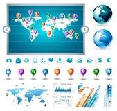 Accumulazione del supervisore di infographics di premio Immagini Stock