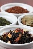 Accumulazione del tè - tè nero aromatizzato Immagine Stock