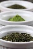 Accumulazione del tè - tè verde di sencha o di bancha Fotografia Stock