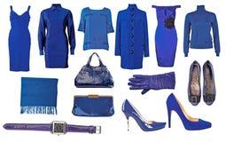 Accumulazione del vestito e dei pattini Fotografia Stock