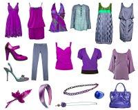 Accumulazione del vestito e dei pattini Fotografie Stock