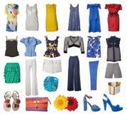 Accumulazione del vestito e dei pattini Immagini Stock Libere da Diritti