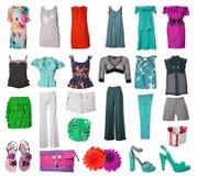 Accumulazione del vestito e dei pattini Immagine Stock